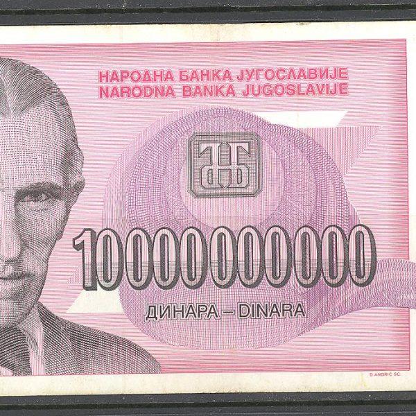 24 Jugoslavija 10 mln. 1993 m. 1 8