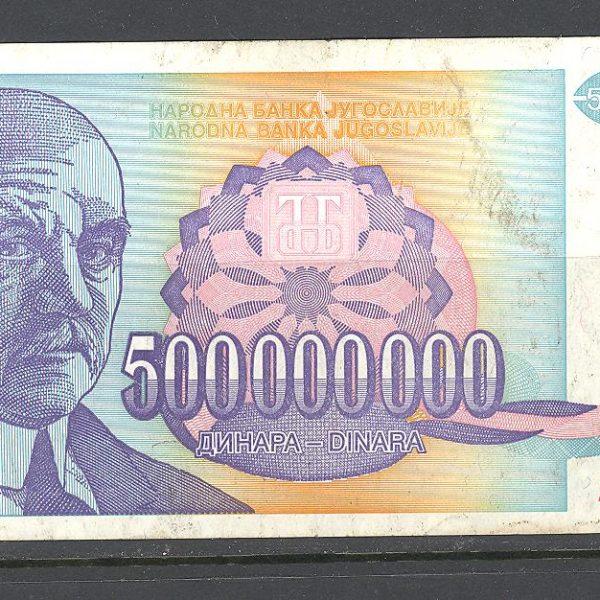 28 Jugoslavija 500 mln. dinarų 1993 m. 1