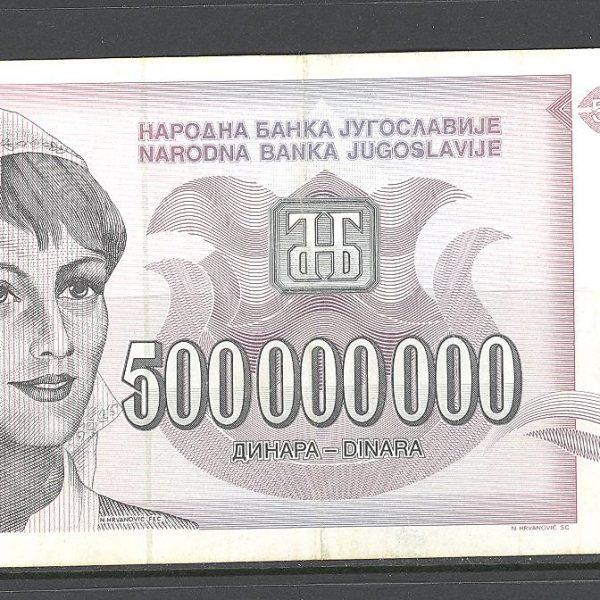29 Jugoslavija 500 mln. dinarų 1993 m. 1