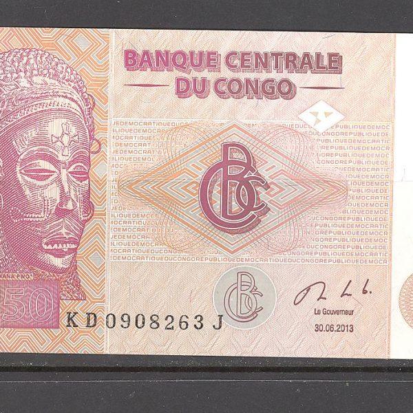 Kongas 50 frankų 2013 m. 1