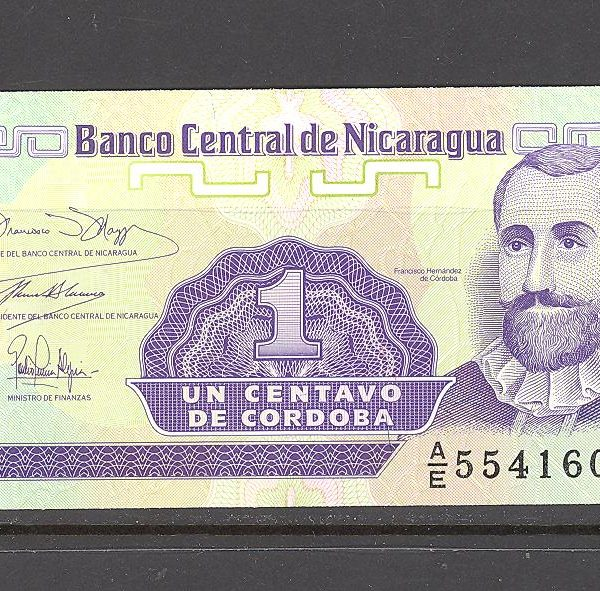 Nikaragva 1 kordoba 1991 m. 1