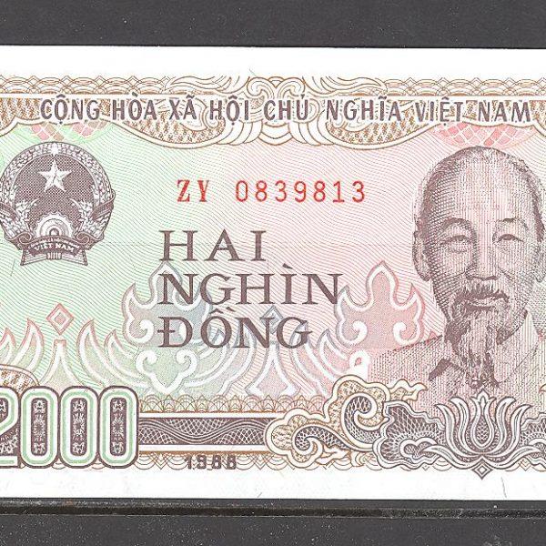 Vietnamas 2000 dongų 1988 m. 1