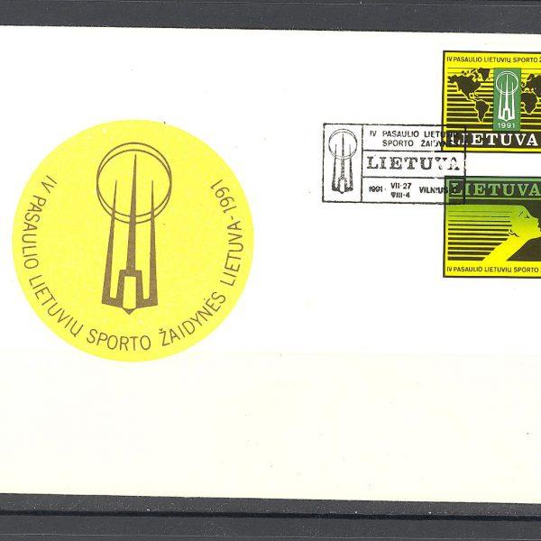 2 Lietuva FDC 1991 m. 28 vnt.