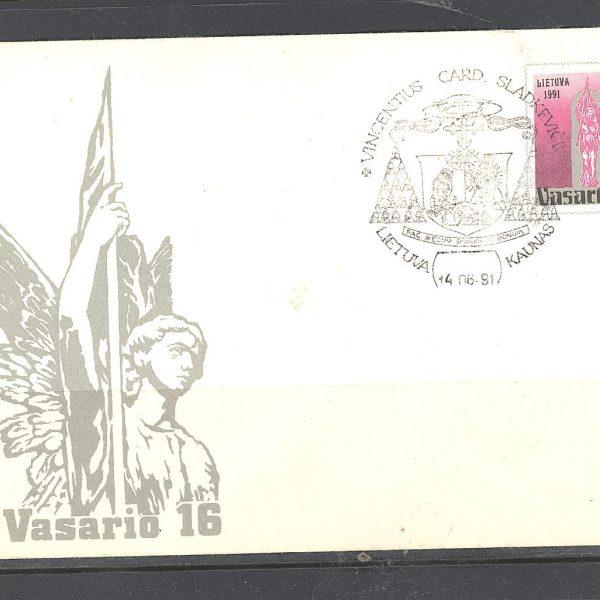 28 Lietuva FDC 1991 m. 1 vnt.