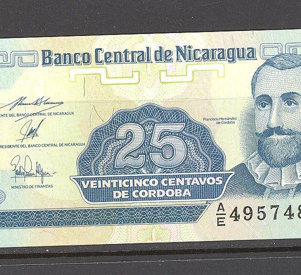 Nikaragva 25 centavos 1991 m. 1