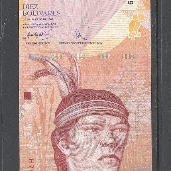 Venesuela 10 bolivarų 2007 m. 1