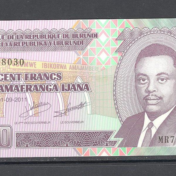 Burundi 100 frankų 2011 m. 1