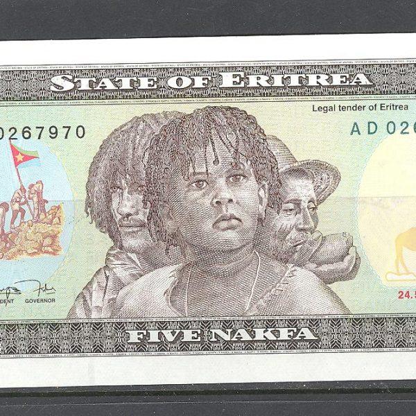 Eritrėja 5 nakfos 1997 m. 1