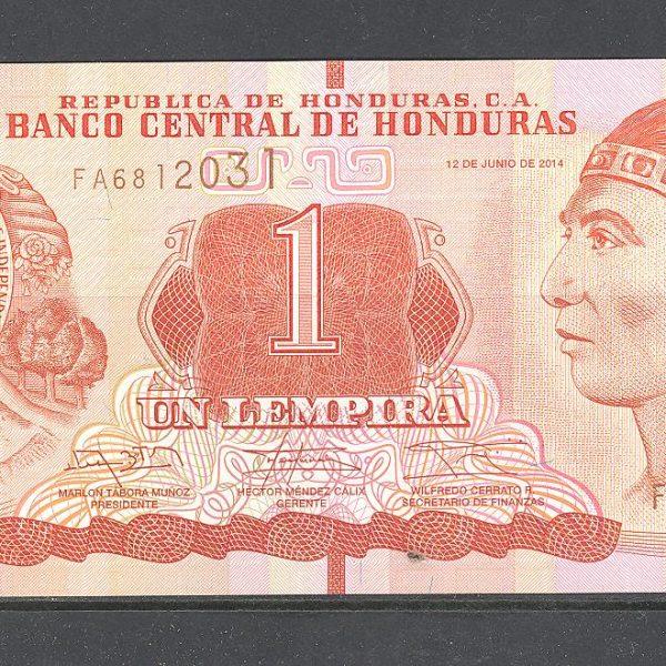 Honduras 1 lempira 2014 m. 1