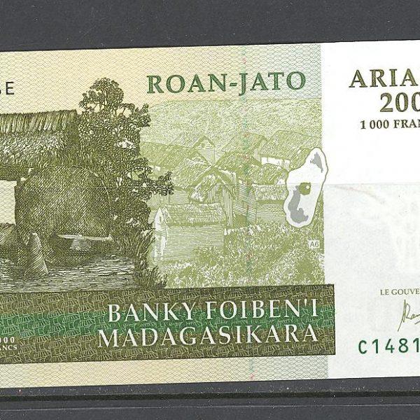 Madagaskaras 200 ariarių 204 m. 1