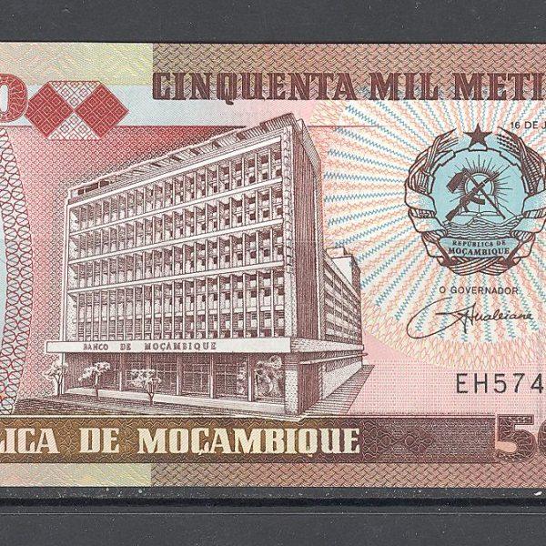 Mozambikas 50000 metikalių 1993 m. 2