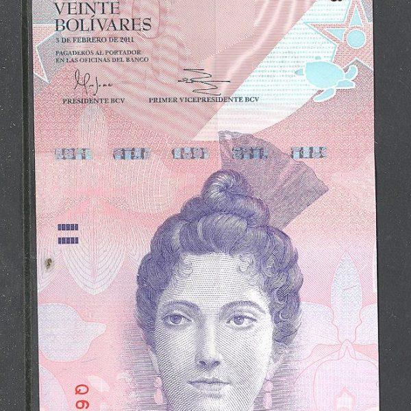Venesuela 20 bolivarų 2011 m. 1