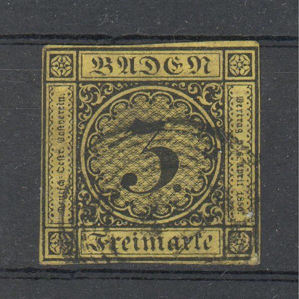 Baden 1851 m. Mi 2a 45 EUR 1