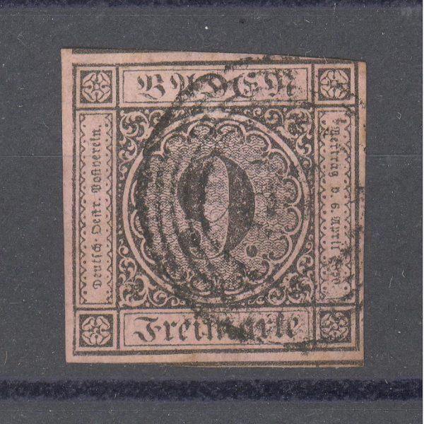Baden 1851 m. Mi 4b 35 EUR 1