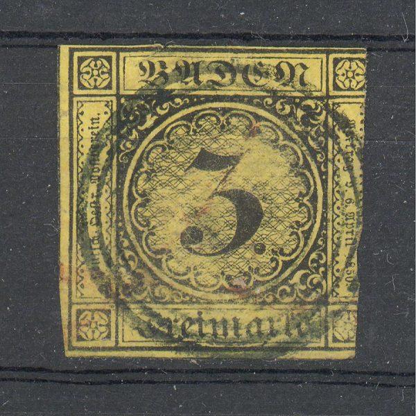 Baden 1852 m. Mi 2b 20 EUR 1