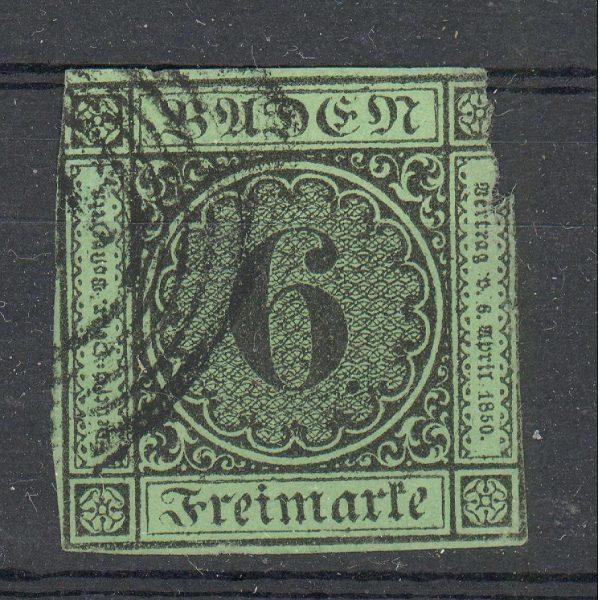 Baden 1852 m. Mi 3b 60 EUR 1