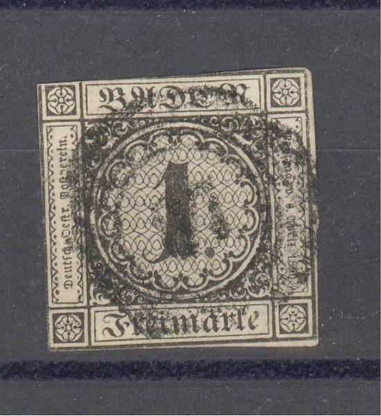 Baden 1853 m. Mi 5 35 EUR 1