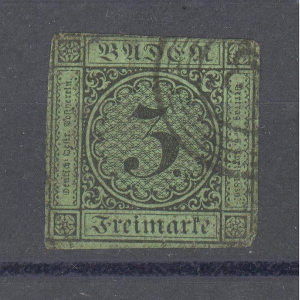 Baden 1853 m. Mi 6 10 EUR 1