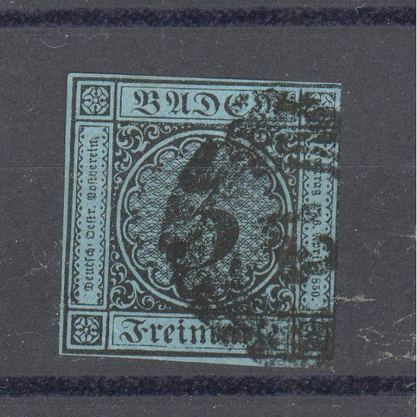 Baden 1858 m. Mi 8 40 EUR 1