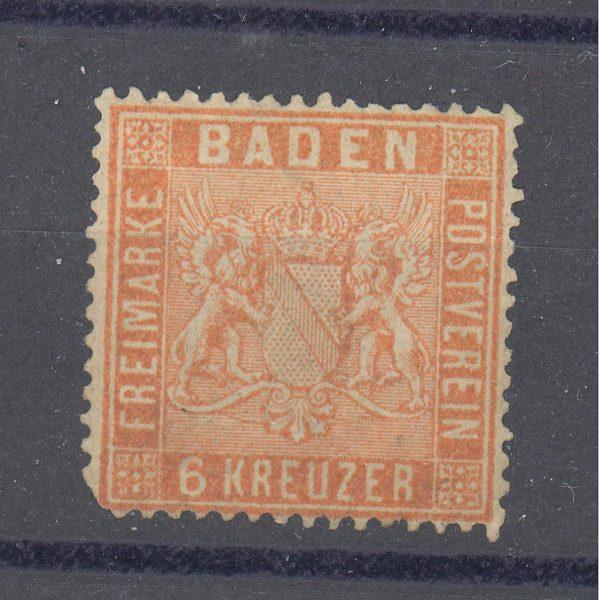 Baden 1861 m. Mi 11b MH 100-250 EUR 1