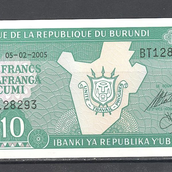 Burundi 10 frankų 2005 m. 1