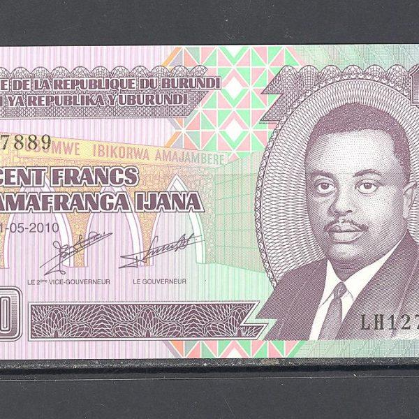 Burundi 100 frankų 2010 m. 1