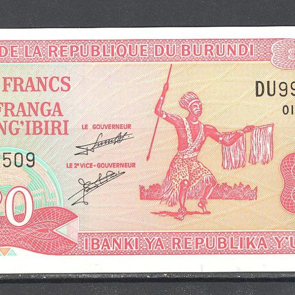 Burundi 20 frankų 2007 m. 1