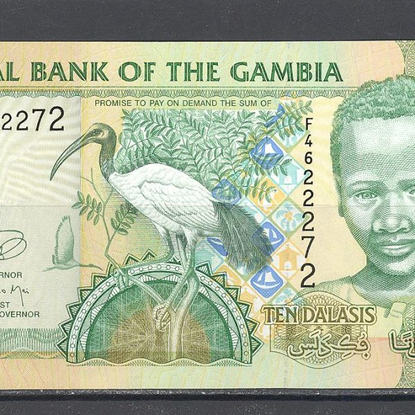 Gambia 10 dalasių 2013 m. 1