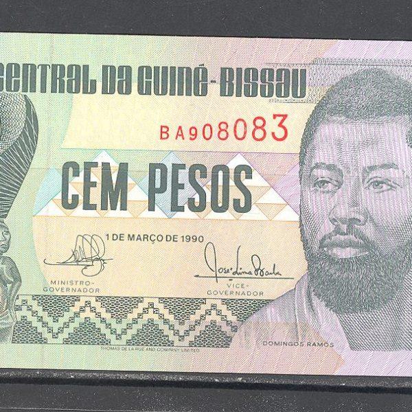 Gvinėja Bisau 100 pesų 1990 m. 1