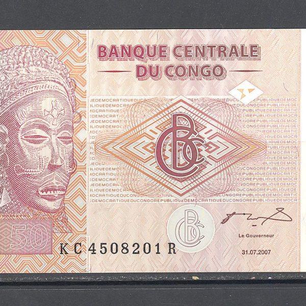 Kongas 50 frankų 2007 m. 1