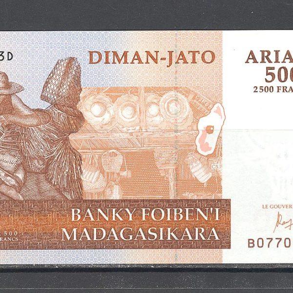 Madagaskaras 500 ariarių 2004 m. 1