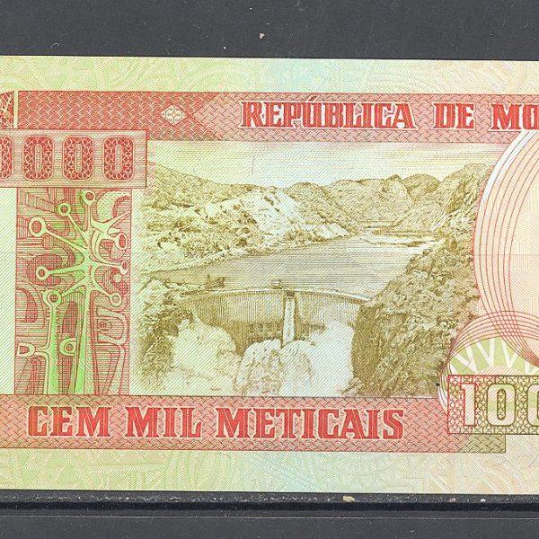 Mozambikas 100000 metikalių 1993 m. 1