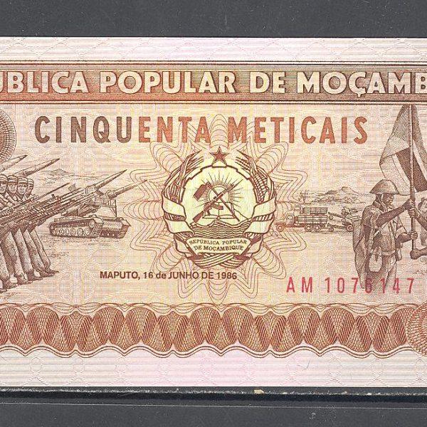 Mozambikas 50 metikalių 1986 m. 1