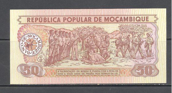 Mozambikas 50 metikalių 1986 m. 2