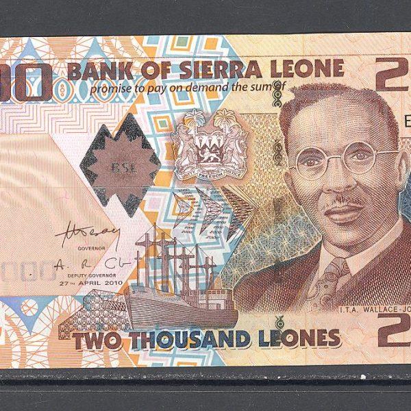 Siera Leonė 2000 leonų 2010 m. 1