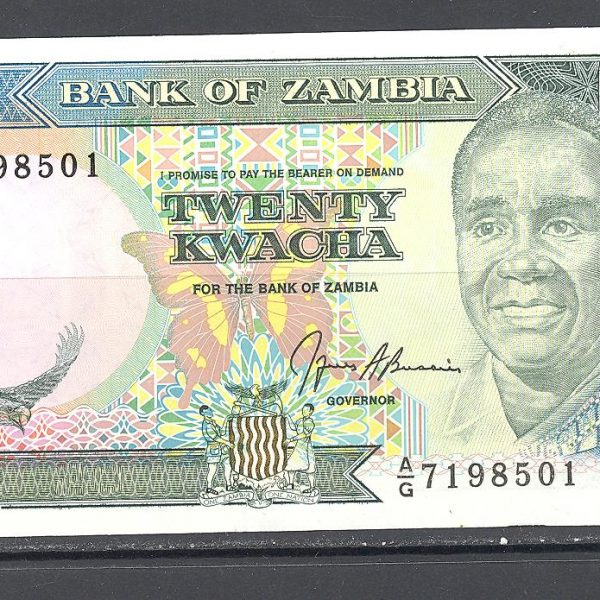Zambija 20 kvačų 1989 m. 1