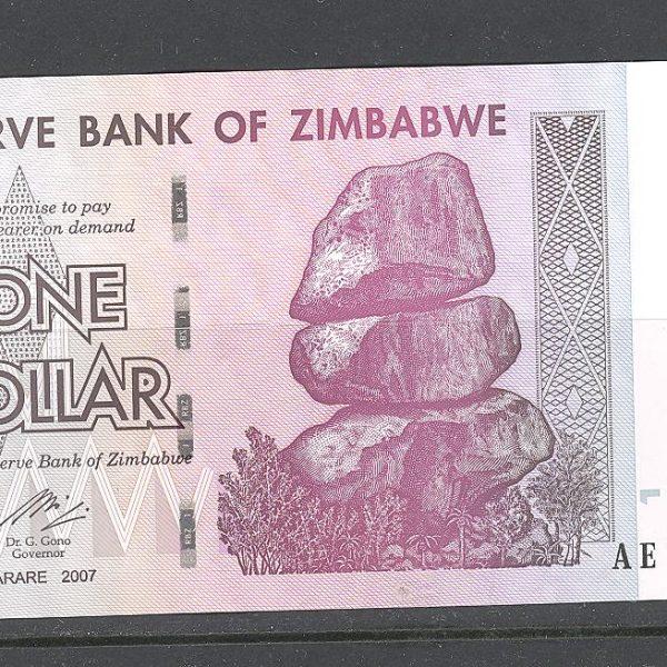 Zimbabvė 1 doleris 2007 m. 1