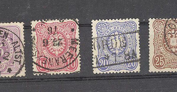 Reichas 1875 m. Mi 31-36 antsp. 54 EUR 1