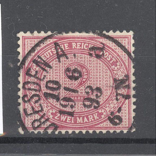 Reichas 1875 m. Mi 37c antsp. 17 EUR 1
