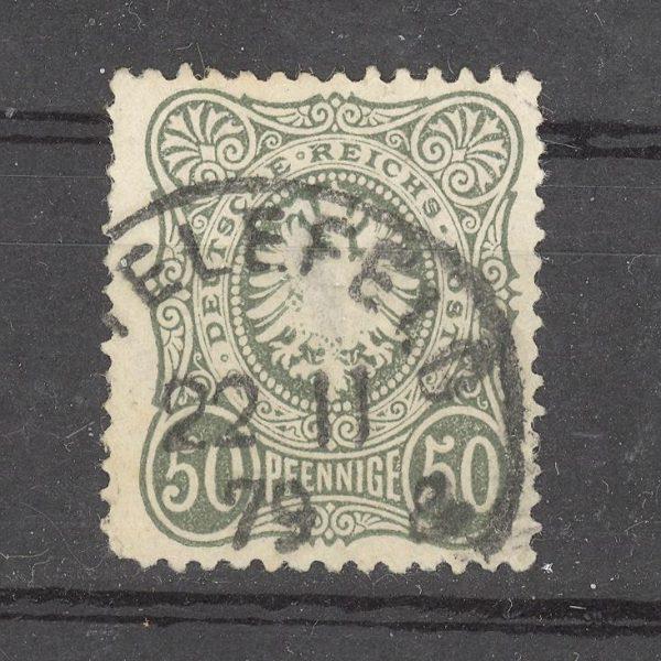Reichas 1877 m. Mi 38a antsp. 18 EUR 1
