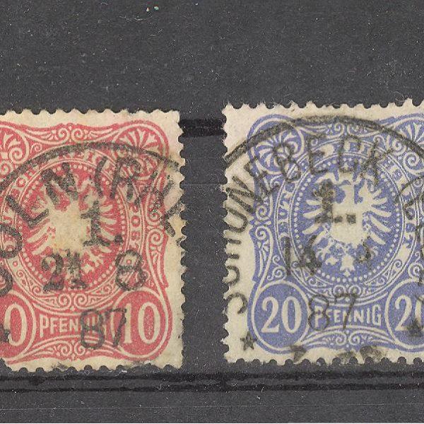 Reichas 1880 m. Mi 39-44 antsp. 17 EUR