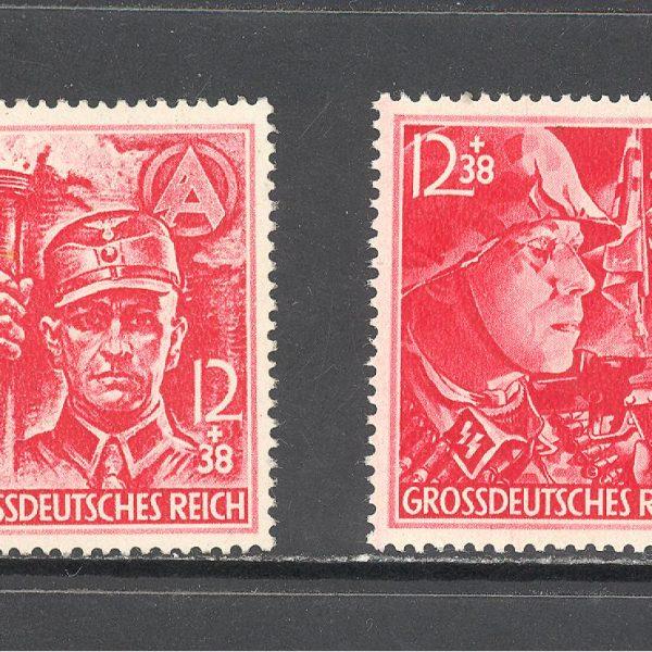 Reichas 1945 m. Mi 909-910 MNH 90 EUR 1